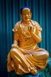 Statue al monastero di Buddhas di diecimila in latta di Sha, Hong Kong, Cina Immagini Stock Libere da Diritti