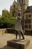 Minerva sculpture by Alan Collins, London,UK. Statue by Alan Collins in the Shadow of Southwark Cathedral, South Bank, London, England, UK royalty free stock photography