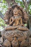 Statue in albergo di lusso moderno, Samui, Tailandia immagini stock