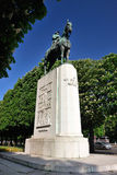 Statue of Albert I of Belgium, in Paris Royalty Free Stock Image