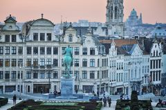Statue of Albert I, Brussels Stock Photo