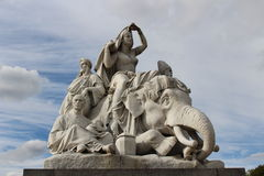 Statue at the Albert Memorial in Kensington Gardens Royalty Free Stock Image