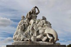 Statue at the Albert Memorial in Kensington Gardens Royalty Free Stock Image