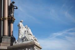 THE STATUE AT ALBERT MEMORIAL IN LONDON stock images