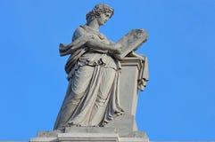 Statue on Albertina Museum - landmark attraction in Vienna, Austria. Royalty Free Stock Photo