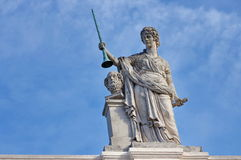 Statue on Albertina Museum Royalty Free Stock Photography