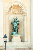 Statue in an alcove of the royal palace. One of the many statues of the royal palace in the old town. Stockholm. Sweden Royalty Free Stock Images