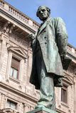 Statue of Alessandro Manzoni in Milan, Italy Stock Photography