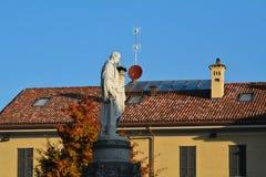 Statue of Alessandro Volta stock image