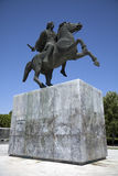 Statue of Alexander the Great. At Thessaloniki city in Greece royalty free stock image