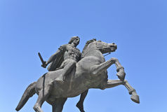 Statue of Alexander the Great. At Thessaloniki city in Greece Stock Images
