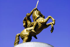 Statue of Alexander the Great, Skopje Stock Image