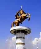 Statue of Alexander the Great. Skopje Macedonia Stock Photo
