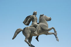 Statue of Alexander the Great at Thessaloniki. City in Greece Royalty Free Stock Photos