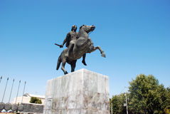 Statue of Alexander the Great in Thessaloniki Royalty Free Stock Images