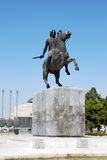 Statue of Alexander the Great in Thessaloniki. Greece Royalty Free Stock Image