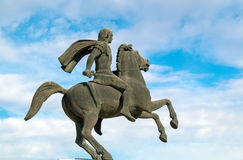 Statue of Alexander the Great at Thessaloniki city Stock Photos
