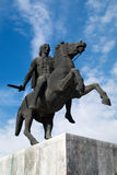 Statue of Alexander the Great at Thessaloniki city Stock Images