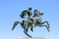 Statue Alexander the Great, Thessaloniki, Greece. Macedonia Royalty Free Stock Photography