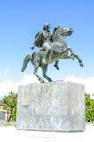 Statue Alexander the Great, Thessaloniki, Greece. Macedonia Royalty Free Stock Photo