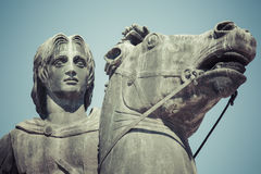 Statue of Alexander the Great in Thessaloniki, Makedonia, Greece Royalty Free Stock Photos