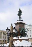 Statue of Alexander II In Helsinki Stock Images