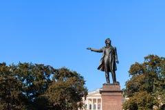 Statue of Alexander Pushkin Stock Photo