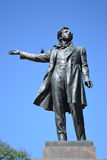 Statue of Alexander Pushkin Royalty Free Stock Photos