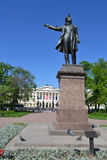 Statue of Alexander Pushkin Royalty Free Stock Photo
