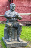 Statue of alexandre dumas with stick Royalty Free Stock Photos