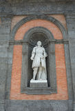 Statue of Alfonso V d`Aragona on the facade of Royal Palace in N Royalty Free Stock Photos