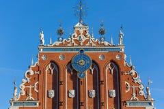 Statue alla Camera dei comedoni a Riga Immagini Stock Libere da Diritti