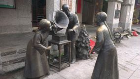 Statue alla vecchia via Fotografia Stock Libera da Diritti