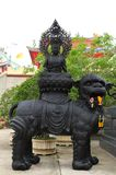 Statue of alloy Kuan Im at China Sean temple ,Thai Royalty Free Stock Photos