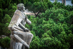 Statue Almeida Garrett Stockfoto