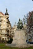 Statue of Alois Jirasek Czech writer, 1851-1930 in Jiraskovo namesti. Royalty Free Stock Photo