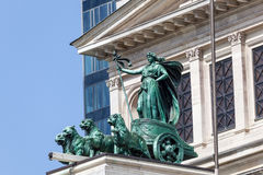 Statue at the Alte Oper building in Frankfurt stock photos