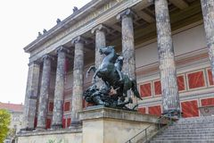 Statue and the Altes Museum from Museum Island. In Berlin city from Germany stock photos