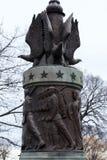 Statue américaine de guerre image stock