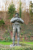 Statue of American soldier at Memorial of George S. Patton Stock Images