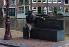 Statue in amsterdam Stock Photography