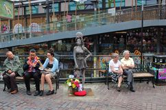 Statue of Amy Winehouse at Camden Stables Market Royalty Free Stock Image