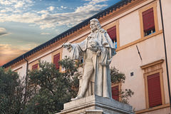 Statue of the anatomist G. B. Morgagni in Forli, Italy Stock Photos