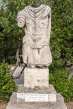 Statue in Ancient Agora Athens Royalty Free Stock Photography