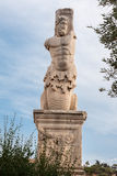 Statue in Ancient Agora Athens Stock Photo