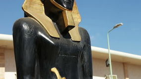 Statue of the ancient Egyptian god stock video