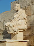 The statue of an ancient greek dramatist Menander in the Acropolis Royalty Free Stock Photos