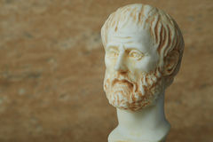 Statue of ancient Greek philosopher Aristotle. Royalty Free Stock Photos