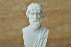Statue of ancient Greek philosopher Plato. Stock Image