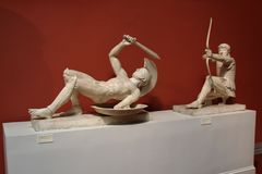 Statue of ancient Greek warriors. Stock Images